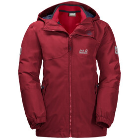 Jack Wolfskin B Iceland 3-in-1 Jas Kinderen, dark lacquer red